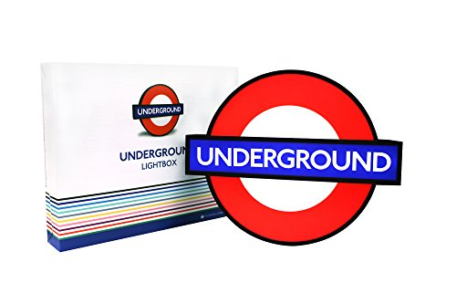 25c783c8e1435 TfL London Underground Lightbox Sign with 10 Interchangeable Tube Stations