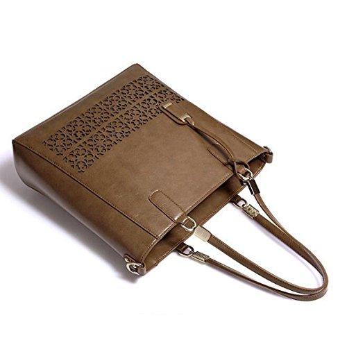 Damen-Tasche Einfache Hohle Schultertasche Große Tasche Handtasche Messenger Bag Elegant Hollow Pattern Pink