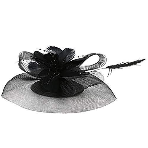 Beonzale Fascigirl Feder Blume Pillbox Hut Haarspange Kentucky Derby Stirnband Hochzeitskirche Handgemachter Hut Party Kopfbedeckung für - Us Marine Mädchen Kostüm
