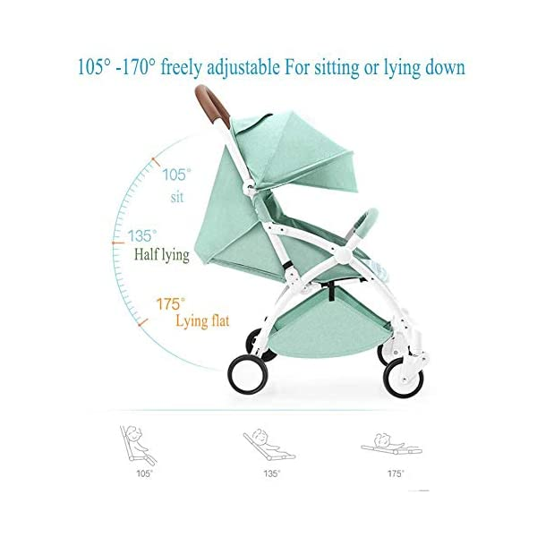 ZLMI Pushchairs Lightweight Pram Buggies Travel System Foldable Buggy 0-3 Years Old Baby Stroller bb Car,B ZLMI The adjustable 5-point safety harness has comfortable shoulder pads, The sturdy frame has a wider seat which results in a more comfortable ride for your child The stroller can be easily folded, smaller and more portable; the adjustable backrest angle can be seated or lying down, as well as a large shopping basket and caster The body is made of high-quality steel pipe, strong and durable, strong load-bearing, soft pedals, safe and environmentally friendly, will not scratch the baby, strong toughness and durability 4