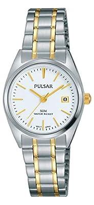 Pulsar Reloj Mujer de Analogico con Correa en Chapado en Acero Inoxidable PH7441X1
