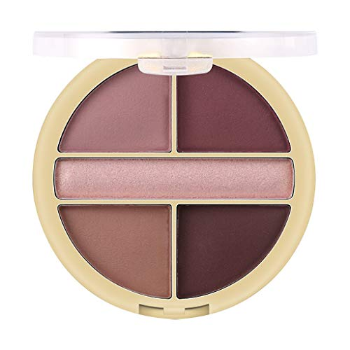 ziYOU Pearl Glitter Lidschatten-Puder-Palette Matt Eyeshadow Cosmetic Makeup 5 Color(Mehrfarbig A) -