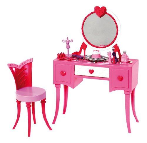 Mattel Barbie X7940 - Möbel Sortiment Frisierkommode