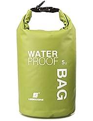 5L Bolsa de Deporte Al Aire Libre Bolsa Impermeable a Prueba de Agua Verde
