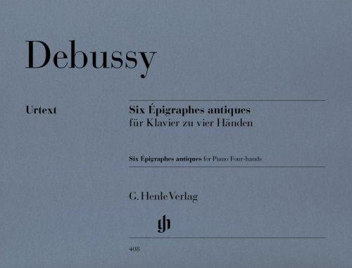 Preisvergleich Produktbild Six Epigraphes antiques; Klavier zu vier Händen