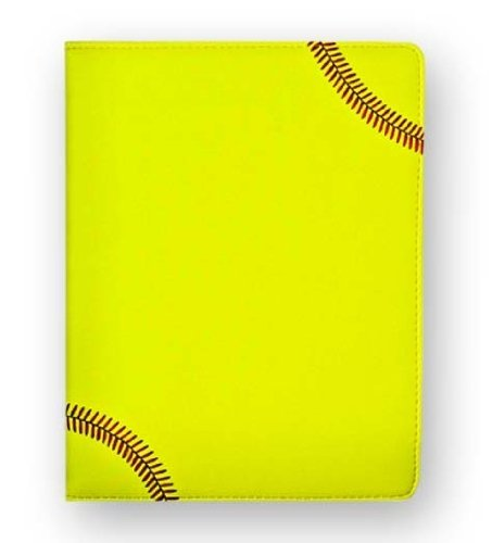 textured-softball-portfolio-with-authentic-red-stitching-includes-a-notepad-pen-card-holder-by-zumer