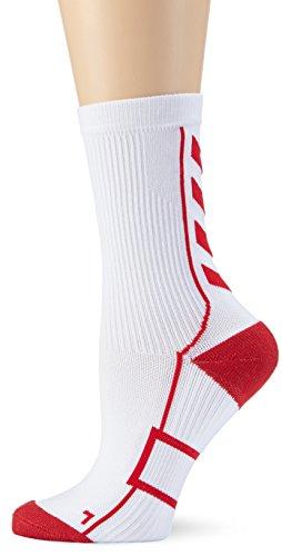 Hummel Kinder Socken Tech Indoor Sock Low, White/True Red, 8, 21-074-9402