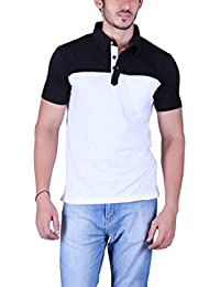 Vivid Bharti Men's Check Black Grey Cotton T-Shir (Premium Quality T-Shirt)