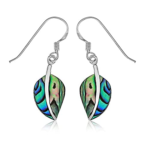 Ornami Ohrringe Blattform aus Sterlingsilber und Abalone