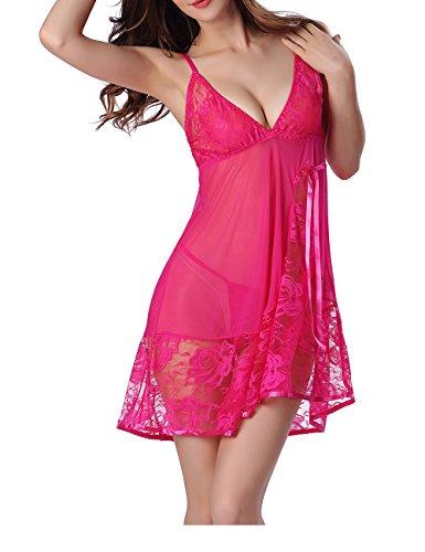 Ivystore Damen Dessous Babydoll Nachtwäsche Schlafzimmer Rest Nachtwäsche Kleid Luxus Unterwäsche...
