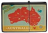 LEotiE SINCE 2004 Feuerzeug Schwarz Benzinfeuerzeug Sturmfeuerzeug Metallfeuerzeug Australien Karte