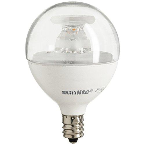 Sunlite LED Globe bombilla 40W equivalente (sólo consume 5vatios.) regulable Frost G16.5