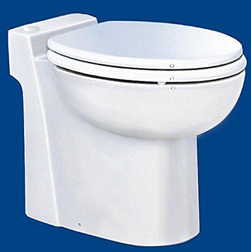 Preisvergleich Produktbild Setma Hebeanlage Watergenie Kompakt, WC + Waschtisch-Zulauf, Keramik-WC inkl. Hebeanlage, Wassersparspülung, Duroplast WC-Sitz