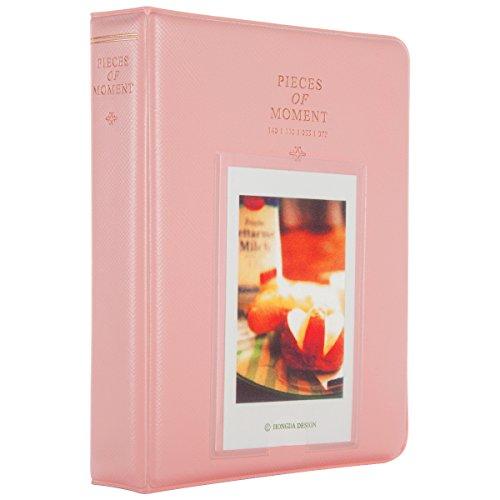 Woodmin 64 Taschen Fotos Album für Instax Mini 70 7s 8 25 50s 90, Polaroid Z2300, Polaroid PIC-300P Film (Rosa) (Nette Schreibtisch-abdeckung)