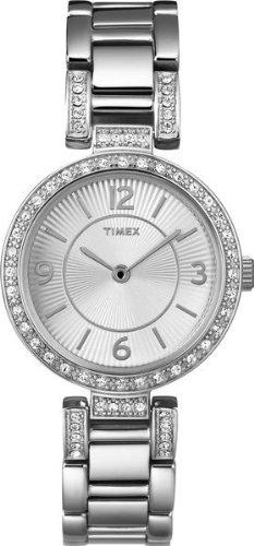 Timex T2N452 - Reloj de cuarzo para mujeres, color plata
