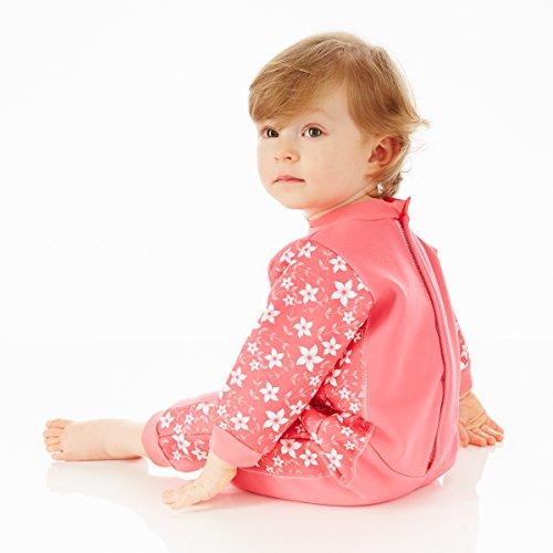 Splash About Kids' Warm-In-One Wetsuit – Pink Blossom, 6-12 Months
