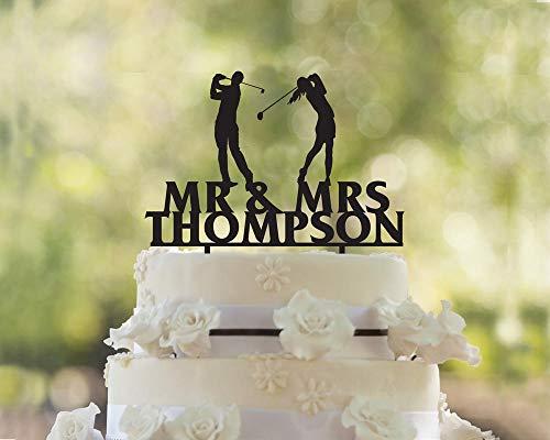 Golf Cake Topper, Hochzeitstorte Topper, Golfer Hochzeitstorte Topper, Tortenaufsatz für Hochzeit, Golf Cake Topper, Hochzeit, Lustige Tortenaufsatz