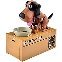 Preisvergleich für Doggy Coin Bank Automatische Eat Medaille Spirited Away Automatische Münzen Spardose Hund Spardose Musik Box Figur Funny Geschenk Spielzeug für Kinder Brown + Black