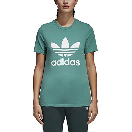 Adidas trefoil tee, maglietta donna, futhyd/bianco, 44