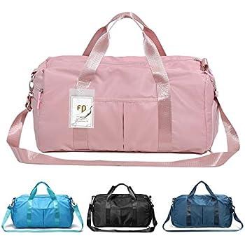 Reisetasche wasserdicht mit Schuhfach Nassfach und Schultergurt Reise-Tasche Reisen Sport Gym Urlaub Taschen Sporttasche gro/ß pink SZSYCN Damen Sporttasche Frauen