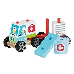ColorBaby Play&Learn Coche ambulancia de madera natural Multicolor (46202)