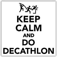 SkyBug Keep Calm and Do Decathlon Bumper Sticker Vinyl Art Decal for Car Truck Van Wall
