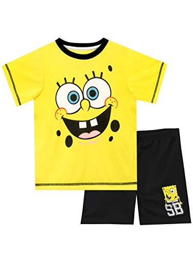 Spongebob Schwammkopf Jungen Sponge Bob Squarepants Schlafanzug Mehrfarbig 146