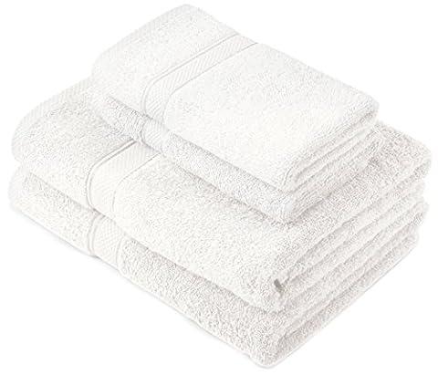 Pinzon by Amazon Lot deserviettes, 2 draps de bain et