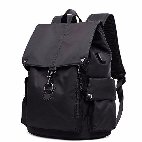 oxford bufan tuch computer kleinen rucksack, reisetasche,schwarz schwarz