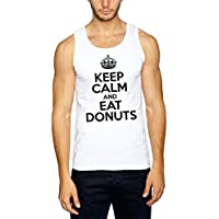 Keep Calm And Eat Donuts Canotta Bianco