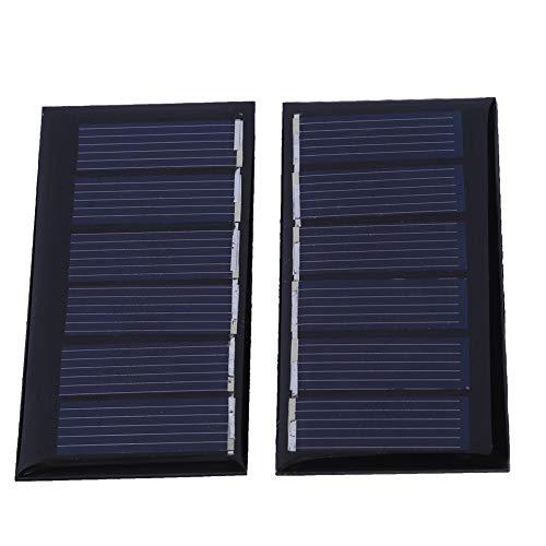 Especificación: Tipo: Panel solar de silicio policristalino Material: silicio policristalino de clase A Potencia: 0,24W corriente de trabajo: 0-ma corriente de cortocircuito: 120ma Voltaje de trabajo: 3V Tensión de cortocircuito: 4,5V Eficienci...