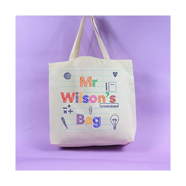 Teacher tote bag Personalised bag Thank you gift End of Term Teacher Gift Appreciation Present unique idea Thank you Teacher Gift - handmade-bags