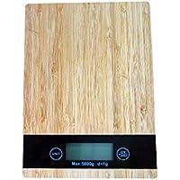 Escala de Madera de bambú de la Cocina del Grano, 5kg de Alta precisión Que