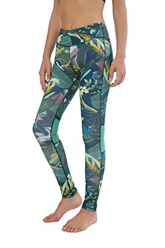 Queenie Ke Donna Della Maglia Nera Allenamento Leggings Opaco Yoga Fitness Palestra Pantaloni Verde