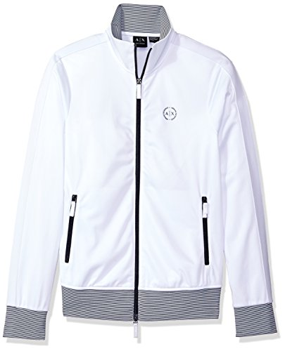 Armani Exchange Herren Ax Logo Full Zip Mock Neck - Weiß - Groß
