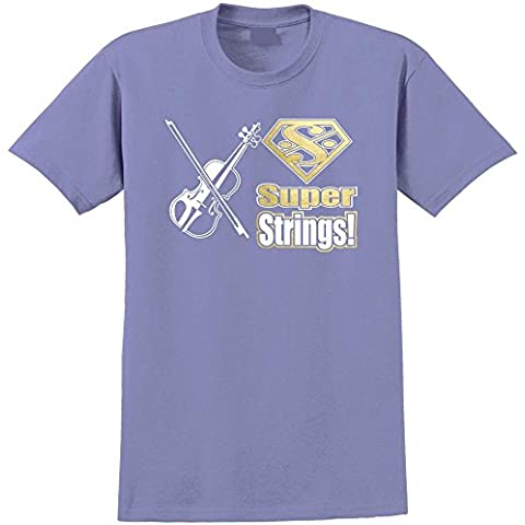 Fiddle Super Strings - Musica T Shirt 13 Taglia 5 Anni - 6XL 9 Colori MusicaliTee - 8 String Pickup