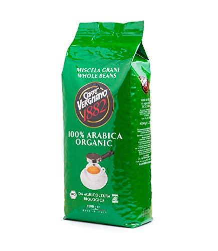 Caffè Vergnano 1882 Bio 100% Arabica Ganze Bohnen, 1er Pack (1 x 1 kg) - Kaffee-bohnen Bio Dunkle Röstung
