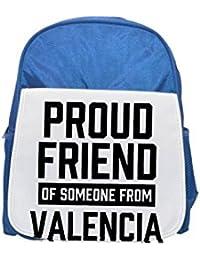 Fotomax Mochila Azul con Estampado de Valencia para niños, Mochilas Bonitas, Mochilas pequeñas, Mochila Negra, Mochila Negra,…