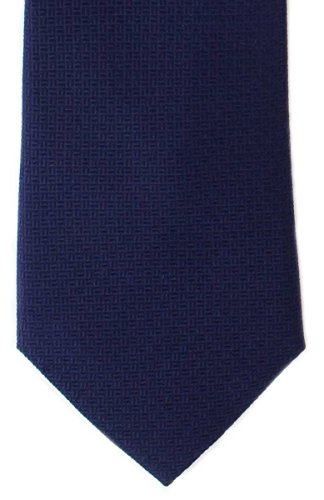 Navy Korb weben Silk Krawatte von Michelsons of London Basket Weave Silk Tie