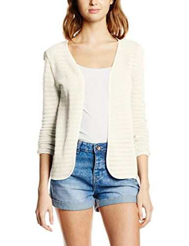 ONLY Damen Strickjacke Onlcrystal LS Cardigan Noos, Weiß (Cloud Dancer), 38 (Herstellergröße: M)