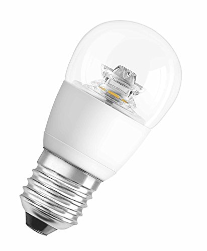 OSRAM ampoule LED E27 dimmable Superstar Classic P Ampoule basse consommation / 4 W– Équivalent à une ampoule incandescente de 25 W, ampoule LED sphérique /transparent, blanc chaud - 2700K