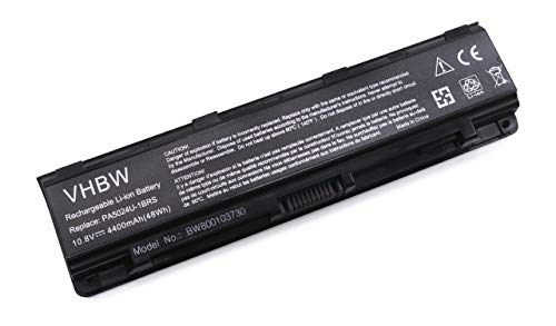 vhbw Batterie 4400mAh pour pc Toshiba Satellite C870-ST3NX2, C870-ST3NX3, C870D, C870D-00H, C870D-00M comme PA5024U-1BRS, PA5025U-1BRS.