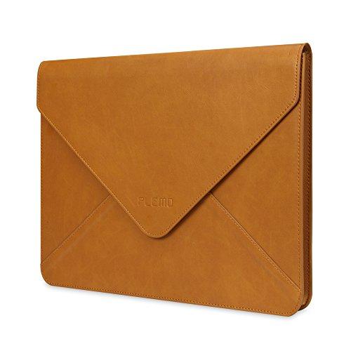 Plemo Laptophülle, Umschlag PU-Leder für 33-33,8 cm
