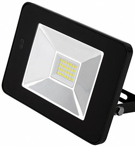 AdLuminis LED Fluter mit Integriertem Bewegungsmelder und Fernbedienung, 10W 20W 30W Flutlicht-Strahler, Energieklasse A++, LED-Strahler für außen und innen (20w schwarz)