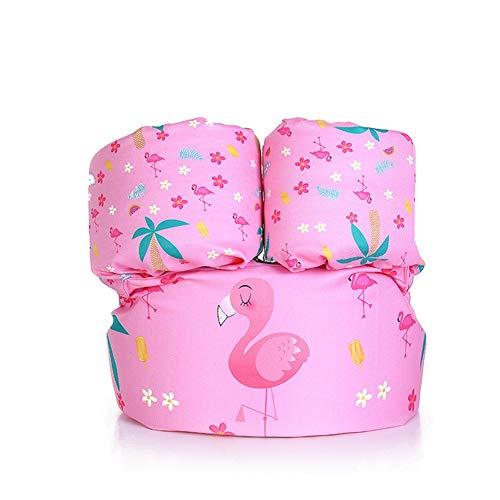 Ksnrang Schwimmflügel Schwimmweste für Kinder Kleinkinder von 2-6 Jahre, 15-30kg, Schwimmen Lernen Schwimmhilfe mit verschiedenen Designs für Jungen und Mädchen (Flamingo, Einheitsgröße)