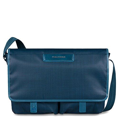 Piquadro Aki Messenger 37 cm Laptopfach Blau