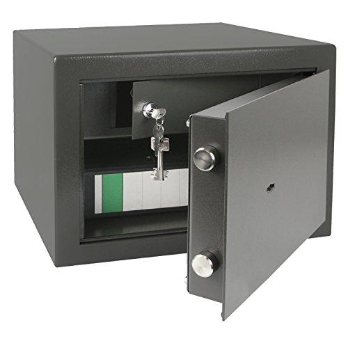 HMF 43300-1111 Möbeltresor Safe, Innentresor für Schmuck, Sicherheitsstufe B, VDMA 24992, 42 x 30 x 38 cm, Ordner, Anthrazit