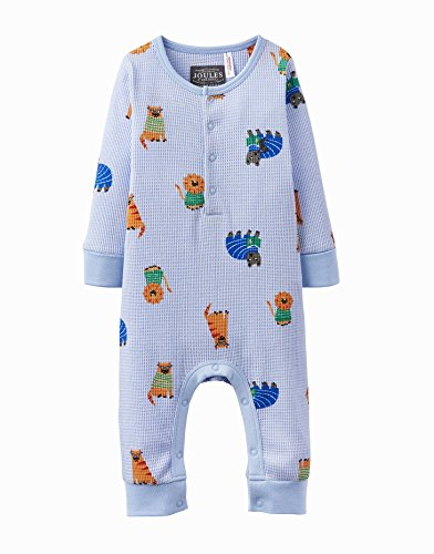 Joules Baby Waffel Babygrow - Sky Blue Lion - 18-24 months / 92 cms (24 Waffeln)