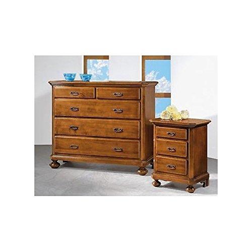 Comodino legno noce arte povera super prezzo x camera da letto