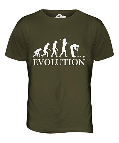 CandyMix Croquet Crocket Evolution Des Menschen Herren T Shirt Khaki Grün